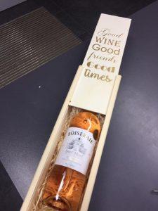 gepersonaliseerde wijnverpakking